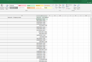 showing the time stamp in date field excel cell